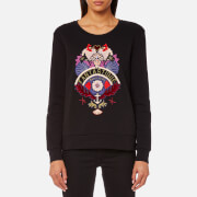 Maison Scotch Women's Clean Crew Neck Sweatshirt Black