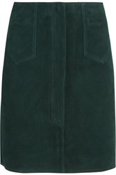 Mih Jeans M.I.H Coda Suede Mini Skirt Dark Green