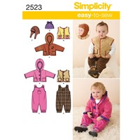 Simplicity Babies' Outerwear Sewing Pattern 2523 A