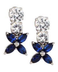 Fantasia Cubic Zirconia Flower Earrings