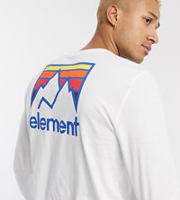 Element Joint Long Sleeve Top In White Exclusive At Asos