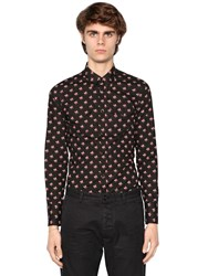 Dsquared Printed Cotton Western Poplin Shirt