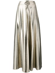 Indress 'Casablanca' Pleated Skirt Women Silk Polyester 1 Metallic
