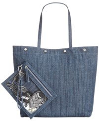 Steve Madden Easton Diy Large Tote A Macy's Exclusive Style Denim