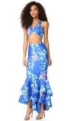 Fame And Partners Ivy Two Piece Dress Cobalt Crush Floral