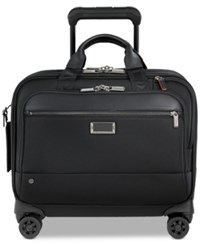 Briggs And Riley Work Medium Spinner Briefcase Black