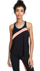 Splits59 Pin Stripe Tank Black Neon Multi
