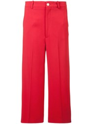 Gucci Culotte Trousers With Web Red