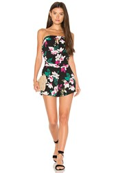 1.State Strapless Romper With Keyhole Black