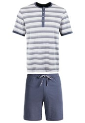 Schiesser Set Pyjama Set Hellgrau Light Grey