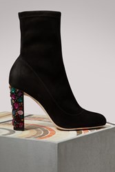 Jimmy Choo Maine 100 Ankle Boots Black