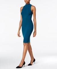 Bar Iii Mock Turtleneck Ottoman Bodycon Dress Only At Macy's Rainforest Teal
