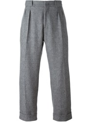 Pence Loose Fit Tailored Trousers Grey