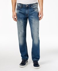 Sean John Men's Seamed Flap Pocket Jeans Light Tint