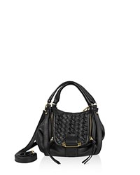 Kooba Jonnie Mini Leather Crossbody Black Gold