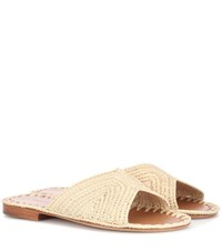 Carrie Forbes Salon Raffia Sandals Beige