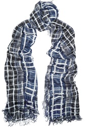 Tomas Maier Paint Check Woven Scarf