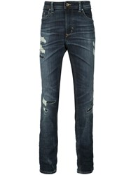 Diesel 'Thavar' Distressed Effect Jeans Blue