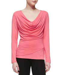 Josie Isla Long Sleeve Jersey Top Coral Punch