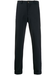 Rrd Slim Fit Tapered Trousers Blue