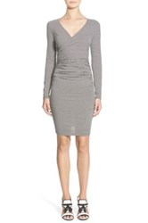 Leith Stripe Body Con Dress Gray