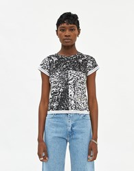 Eckhaus Latta Lapped Baby T Shirt In Astrakhan Size Extra Small 100 Cotton