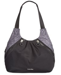 Calvin Klein Small Nylon Shopper Black Combo
