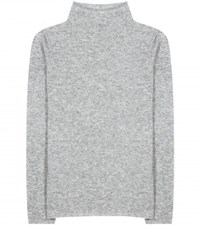 The Row Andra Cashmere And Silk Top Grey
