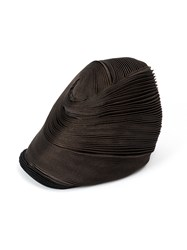 Issey Miyake Tall Pleated Hat Women Polyester Polyurethane One Size Brown