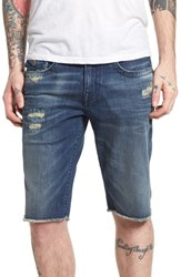 True Religion Big And Tall Brands Jeans Ricky Relaxed Fit Shorts Worn Azul