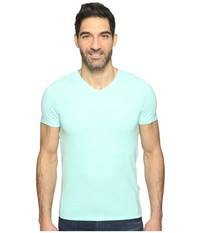 Calvin Klein Sz V Neck Tee Mint Splash Men's T Shirt Blue