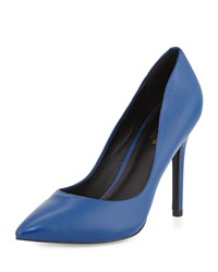 Charles By Charles David Pact Leather Pointed Toe Pump Electric Blue