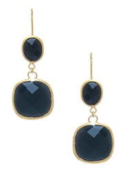 Rivka Friedman Black Onyx Drop Earrings Gold