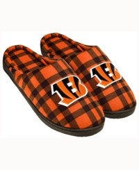 Forever Collectibles Cincinnati Bengals Flannel Slide Slippers Black