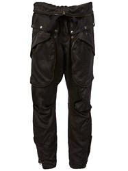 Faith Connexion Oversized Pocket Baggy Trousers Black