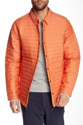 Relwen Snap Button Quilted Waterproof Jacket Orange