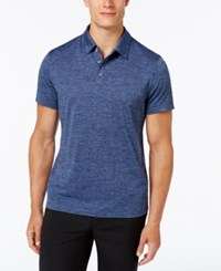 Alfani Men's Ethan Performance Polo Only At Macy's Navy Blue Combo