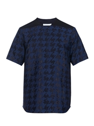 Public School Hound's Tooth Woven Jacquard T Shirt