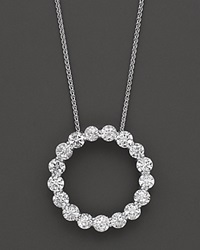 Bloomingdale's Diamond Circle Pendant In 14 Kt. White Gold 3.0 Ct. T.W. No Color