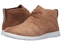 Ugg Freamon Chestnut White Suede Men's Lace Up Boots Brown