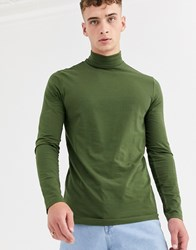 Weekday Ted Turtleneck In Khaki Green