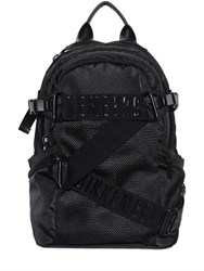 Bikkembergs Logo Straps Canvas And Mesh Backpack