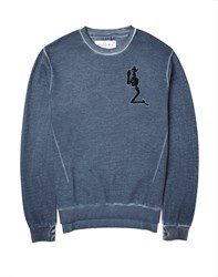 Religion Jumper In Washed Cotton Navy
