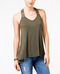 American Rag Crocheted Back High Low Tank Top Only At Macy's Olive