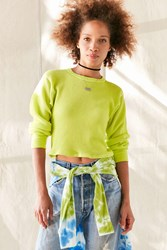 Urban Renewal Remade Overdyed Thermal Top Lime