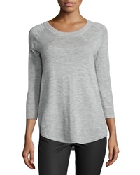 Atm Scoop Neck Cashmere Slub Sweater