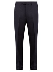 Gucci Wool And Cashmere Blend Trousers Navy