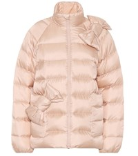 Red Valentino Quilted Down Jacket Pink
