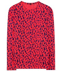 Proenza Schouler Long Sleeved Printed Cotton Top Multicoloured
