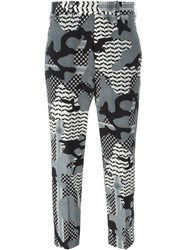 Neil Barrett Camouflage Print Trousers Black
